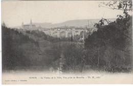 21  Semur  Le Viaduc Et La Ville Vue Prise De Montille - Semur