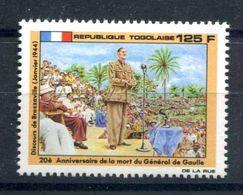 Thème Général De Gaulle - Togo - Yvert 1308  - Neuf Xxx - T 980 - De Gaulle (General)