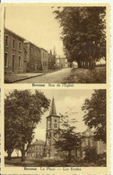 Bovesse -- 1 Carte 2 Vues - Rue De L' Eglise Et La Place - Les Ecoles.     (2 Scans) - La Bruyere