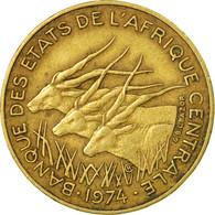 Monnaie, États De L'Afrique Centrale, 10 Francs, 1974, Paris, TB+ - Central African Republic
