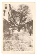 CPA MACEDOINE  1916 1918 VODENA Rue Du Marché Animation - Macedonia