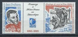 TAAF Neuf  N° 183A Triptyque De 1993 Météo France - Unused Stamps