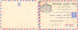 LETTRE PUBLICITAIRE HORLOGERIE FRANCO-SUISSE - M. OURAGAN FORT-DE-FRANCE MARTINIQUE 25.4.1958 / 1 - Briefe U. Dokumente