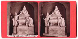 Stereo-Foto G. Brogi, Firenze, Ansicht Firenze, S. Croce, Monumento A Dante, Sefano Ricci - Stereoscoop