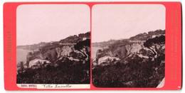 Stereo-Foto G. Brogi, Firenze, Ansicht Napoli, Villa Lucullo - Stereoscopio