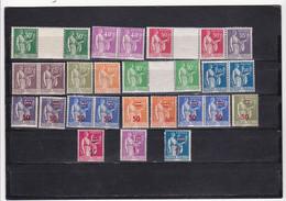 Type PAIX Des Années 1932 à 1937 - Très Joli Lot De 27 Timbres De Différentes Séries - Timbres Neufs, Quelques Défauts - Ungebraucht