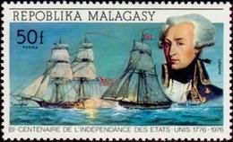 "MADAGASCAR - Lafayette ; Brick Américain ""Lexington"". - Madagascar (1960-...)"