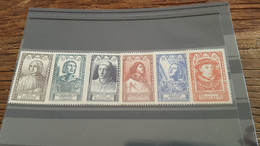 LOT522769 TIMBRE DE FRANCE NEUF** LUXE N°765 A 770 - Unused Stamps
