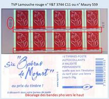 FRANCE - Carnet RGR-2, Décalage Barres Pho Vers Le Haut - TVP Lamouche Rouge - YT 3744 C11 / Maury 559 - Uso Corrente