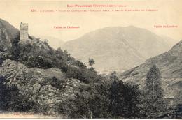 CPA - LUCHON - TOUR DE CASTELVIEL ET MONTAGNE DE CAZARILH - Luchon