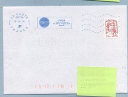 2014 Flamme Bleue Néopost  03717A FESTIVAL JAZZ IN AJACCIO - Mechanical Postmarks (Advertisement)