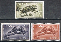 Serie Completa RIO MUNI, Colonia Española 1964, Pro Infancia, Camaleon Y Pangolin, Num 45-47 * - Riu Muni