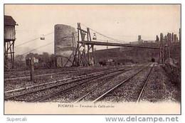 N°583 VAR TOURVES TERMINUS DU CABLE AERIEN.CHATEAU D'EAU SUR LIGNE DE CHEMIN-DE- FER. - Other Municipalities