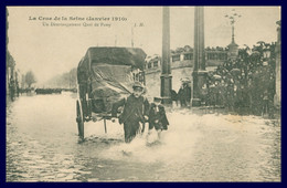 La Crue De La Seine - Janvier 1910 - Un Déménagement Quai De Passy - Animée - Charrette - Photo J. HAUSER - La Crecida Del Sena De 1910
