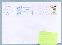 2009 Flamme Bleue Néopost  03718A  TELETHON CORSE - Annullamenti Meccanici (pubblicitari)