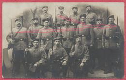 Namur Belgique : Carte Photo Soldats Allemands Armés Fusils Baïonnettes - Militaria - Guerre 1914-18 / Feldpost Namur - Otros