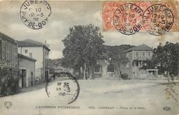 63 - JUMEAUX - Place De La Halle En 1908 - Timbres Type Blanc - Andere Gemeenten