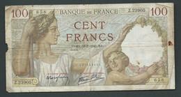 FRANCE BILLET  100 Francs Sully  SA. 31/7/1941 . SA.   Z.23905  658      DANS L'état  LAURA5707 - 100 F 1939-1942 ''Sully''