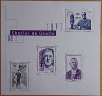 "FRANCE 2020 BLOC FEUILLET ""CHARLES DE GAULLE 1890 - 1970 GÉNÉRAL DE GAULLE"" - NEUF - Ongebruikt"