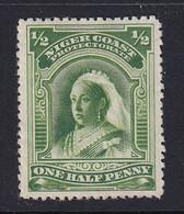 Niger Coast Protectorate: 1897/98   QV    SG66b  ½d   Green  [Perf: 13½-14]  MH - Nigeria (...-1960)