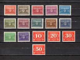 Polonia  (Ocupación  Alemana )  1943  .-   Y&T Nº   25/36   Servicio,    1/4  Taxa - Occupation 1938-45