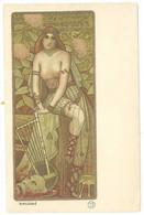 """BERTHON -  """"SALOME"""" Femme Art Nouveau à La Harpe (5133 ASO) - 1900-1949"""