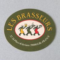 Les 3 Brasseurs Biere D'Lille (Sous-bock Beermat Coaster Bierdeckel Bierviltje - Sotto-boccale