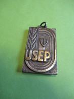 Médaille De  Sport Ancienne/Pendentif/Union Sportive De L'Enseignement Du Premier Degré/ Course à Pied/1958       SPO352 - Athletics