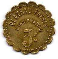 Jeton - 1965 - 5 Francs Blateau Frères - SUP - Professionals / Firms