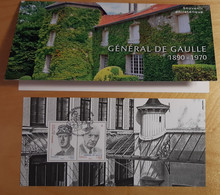 """BS 2020 - BLOC SOUVENIR - """"GENERAL DE GAULLE - 1890 - 1970"""" - Oblitéré 1er JOUR - COLOMBEY-LES DEUX EGLISES-  05/11/2020 - Souvenir Blocks & Sheetlets"""