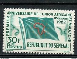 SENEGAL - 1er Anniversaire Union Africaine Et Malgache - Y&T N° 215 - MNH - 1962 - Senegal (1960-...)
