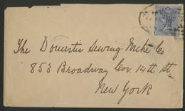 BERMUDES BERMUDA N° 21 D'HAMILTON Pour NEW-YORK En 1892 (voir Description) - Bermuda