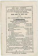 HOOGSTRATEN / AVERBODE /HERSELT / VEERLE  - Z.E.H. Josephus LAMBERTZ - Kanonik Der Abdij Van Averbode - °1787 EN +1856 - Devotion Images