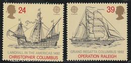 M 741) GB 1992 Mi# 1400-01, 1418 **: Entdeckung Amerika, Kolumbus, Schiffe; Binnenmarkt - Unused Stamps