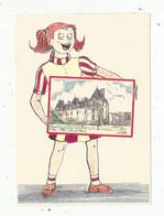 Cp , 79 , L'ABSIE , Illustrateur , Signée Yves DUCOURTIOUX , Château De L'abbaye , Vierge - L'Absie