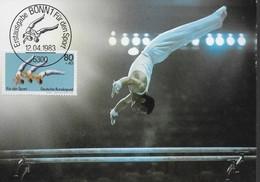 ALLEMAGNE  Carte Maxi    1983 Bonn  Gymnastique Barre Parallele - Gimnasia