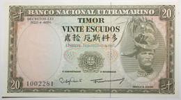 Timor - 20 Escudos - 1967 - PICK 26a.6 - NEUF - Timor