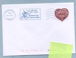 2007 Flamme Bleue Néopost  89 SENS PPDC YONNE TOUR DE FRANCE - Mechanical Postmarks (Advertisement)