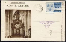 Fr - Carte-lettre Entier Postal 65 C Oblitération Paris 8-IV- 1938 Avec Illustrations Diverses - B/TB - - Kartenbriefe