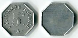 N93-0644 - Monnaie De Nécessité à Localiser - L'Economie Sociale - 5 Centimes - Noodgeld