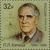 2019-2479 1v Russia  Pyotr Kapitsa, Scientist, Nobel Laureate In Physics Mi 2698 MNH - Ongebruikt