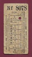 061220 - TICKET CHEMIN DE FER TRAMWAY - SUISSE CGTE Nf 8078 10 Centimes - La Jonction - Europa