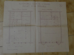 ALGERIE : Projet D'un Immeuble, Automobile Club De L'Oranie, Années 30 (architectes Tailliet Et Besnier A ORAN) - Arquitectura
