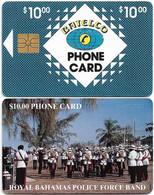 Bahamas - Batelco - Royal Police Band, 1994, Gem1B Not Symm. Red, CN. White NOT In Box, 10$, Used Rare - Bahamas