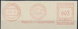 820  Jeux Olympiques D'hiver Garmisch Partenkirchen - 1936 Winter Olympics: Mayor's Meter Stamp. Ski - Inverno1936: Garmisch-Partenkirchen