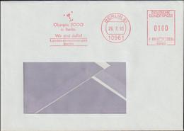 Germany Cover W/Meter Berlin  1992 Olympia 2000 In Berlin Wir Sind Dafür! From Landeseinwohneramt Berlin (G119-27) - Verano 2000: Sydney