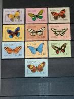 Bolivie - Bolivia Papillons Butterflies YT 488/492 + PA283/287 MNH XX - Butterflies