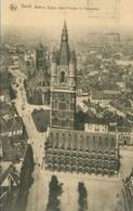 Gand 1924; Beffroi, Eglise Saint Nicolas Et Panorama - Voyagé. (Thill - Bruxelles) - Gent