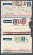 Argentine Lot De 3 Enveloppes - Other