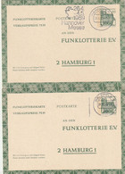 "Bundesrepublik Deutschland -  1969 - 2 Funklotterie-Postkarten Stempel ""Bielefeld"" Und ""Hannover"" (D487) - Postcards - Used"